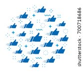 abstract vector cloud of likes. ... | Shutterstock .eps vector #700718686