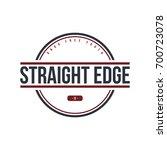 straight edge badge label  ... | Shutterstock .eps vector #700723078