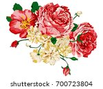 image of flowers executed in... | Shutterstock .eps vector #700723804
