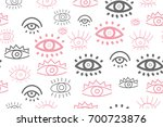 hand drawn doodles collection... | Shutterstock .eps vector #700723876