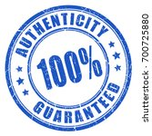 authenticity guaranteed rubber... | Shutterstock .eps vector #700725880