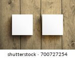 square business card mockup...   Shutterstock . vector #700727254