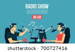 radio show dj s male   female... | Shutterstock .eps vector #700727416