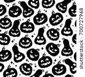 cute pumpkins seamless pattern. ... | Shutterstock .eps vector #700727968