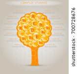 a complex of vitamins. all the... | Shutterstock .eps vector #700728676