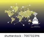 business logistics concept ... | Shutterstock .eps vector #700732396