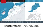 morocco infographic map and... | Shutterstock .eps vector #700732606