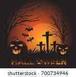 halloween background vector... | Shutterstock .eps vector #700734946