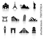 world sights icons. world...   Shutterstock .eps vector #700737814