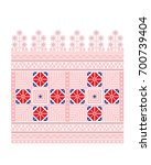 ethnic pattern for embroidery... | Shutterstock .eps vector #700739404