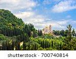 new athos monastery of st.... | Shutterstock . vector #700740814