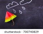 origami yellow red blue cartoon ... | Shutterstock . vector #700740829