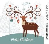 christmas card | Shutterstock .eps vector #700744144
