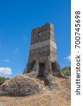 Small photo of The Selce Tower or Torre Selce on the Appian Way or Via Appia Antica, in Rome, Italy. It was one of the earliest and strategically most important Roman roads of the ancient republic.