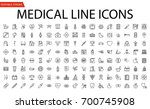 medical vector icons set. line... | Shutterstock .eps vector #700745908