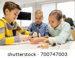 education  children  technology ... | Shutterstock . vector #700747003