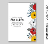wedding invitation or card with ...   Shutterstock .eps vector #700748164
