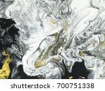 abstract hand painted black and ... | Shutterstock . vector #700751338