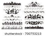 halloween dividers collection.... | Shutterstock . vector #700753213
