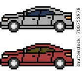 vector pixel art car isolated | Shutterstock .eps vector #700753978
