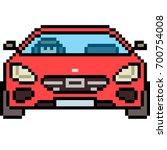 vector pixel art car front... | Shutterstock .eps vector #700754008
