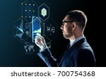 business  augmented reality and ... | Shutterstock . vector #700754368