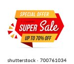 super sale banner  special... | Shutterstock .eps vector #700761034