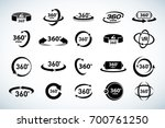 360 degrees view vector icons... | Shutterstock .eps vector #700761250