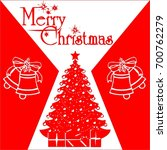 merry christmas card  poster... | Shutterstock .eps vector #700762279