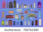 big set different buildings and ... | Shutterstock .eps vector #700762384