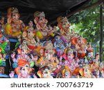happy ganesh chathurthi. group... | Shutterstock . vector #700763719