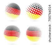 germany halftone flag set...   Shutterstock .eps vector #700766014