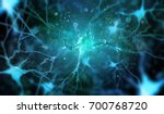 Stock photo neurons in the brain on dark background d illustration 700768720