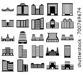 building icons set. vector... | Shutterstock .eps vector #700769674