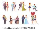 romantic set for valentine's... | Shutterstock .eps vector #700771324