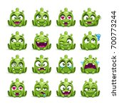little cute funny green alien... | Shutterstock .eps vector #700773244