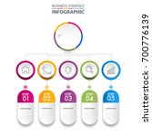business infographics  strategy ... | Shutterstock .eps vector #700776139