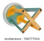 handmade stool. chair in green  ... | Shutterstock . vector #700777414