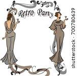 retro party invitation design. | Shutterstock .eps vector #700780639