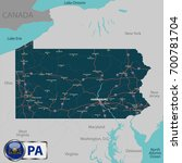 vector set of pennsylvania... | Shutterstock .eps vector #700781704