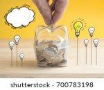 transparent see through piggy... | Shutterstock . vector #700783198