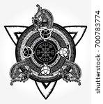 celtic cross tattoo art and t... | Shutterstock .eps vector #700783774
