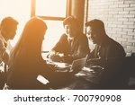 business team working on... | Shutterstock . vector #700790908