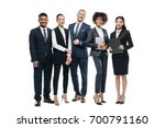 group of happy multiethnic... | Shutterstock . vector #700791160