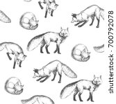 vector seamless pattern with... | Shutterstock .eps vector #700792078