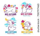 mid autumn festival  labels ... | Shutterstock .eps vector #700797460