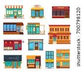 street view front snack bar... | Shutterstock .eps vector #700798120