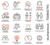 vector set outline icons... | Shutterstock .eps vector #700800793