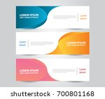 set of modern colorful business ... | Shutterstock .eps vector #700801168