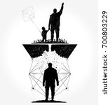 father and son tattoo and t... | Shutterstock .eps vector #700803229